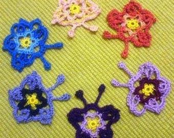 Crochet Pdf Pattern Flowery Butterfly instant download