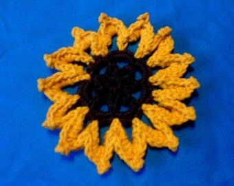 Sunflower crochet pattern pdf instant download