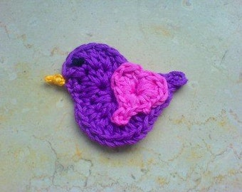 Crochet PDF Pattern Cute Little Bird instant download