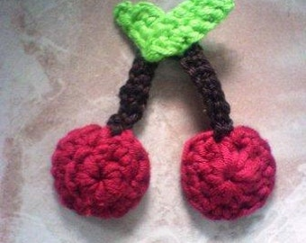 Cherry Applique Crochet PDF Pattern instant download