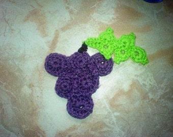 Grape Applique Crochet PDF Pattern instant download