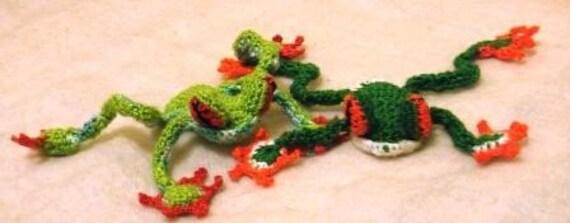 Tree Frog PDF Crochet Pattern Instant download