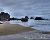 Beach Photography Landscape photography Nature photography  ocean photography  Pacific Oregon coast grey wall art Fine Art Photography Print