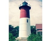 Nautical Photography Lighthouse photography beach photography pastel red white wall art home  office decor  Fine Art Photography Print