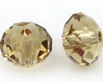 6mm Swarovski Light Colorado topaz briolette bead (spacer) - Quantity 5