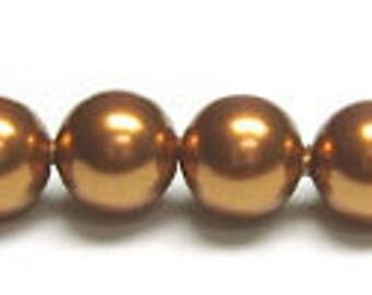6 mm Swarovski Copper pearl quantity 20