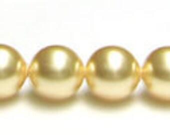 6 mm Swarovski Gold pearl quantity 20