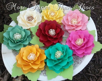 Paper Flowers - Weddings - Party Favors - Elizabeth Rose - Pick Any 50 - You Pick Colors