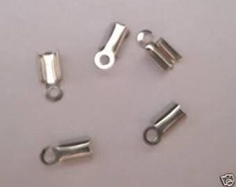 500 Silver Folding Crimp Ends-Plus 100 Free Split Rings