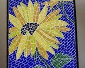 Sunflowers II - Mosaic wall hanging