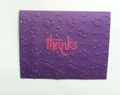Paw Print Embossed Thank You Cards