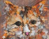 Cat Painting Art- Original Oil 6 x 6 inches
