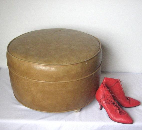 Large Caramel Ottoman