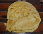 Pale Yellow Rectangular Habotai Silk Belly Dance Veil 5mm (45X108) (BD137)