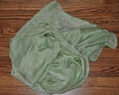 Sage Green Hand-Dyed Rectangular Habotai Silk Belly Dance Veil 5mm (45X108)