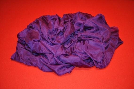 Grape Rectangular Habotai Silk Belly Dance Veil 5mm (45X108)