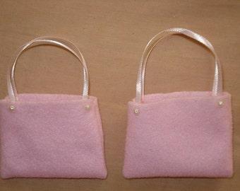 Two Fashion Doll sized tote bag set - ed220