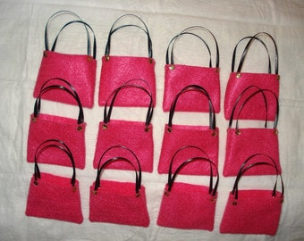 PARTY FAVOR - 12 Fashion Doll sized tote bags - bpf5