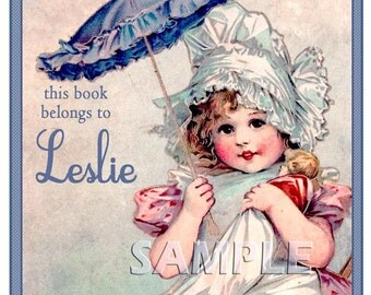 A Parasol for My Baby - SO SWEET - ADHESIVE Personalized Bookplates