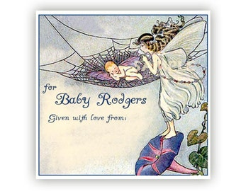 Sleep Baby  Sleep - Personalized ADHESIVE Baby Bookplates - Great Baby Shower Gift or Party Theme