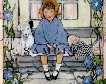 Prized Possessions -  Personalized Bookplate - Vintage Dolls - Lovely Gift