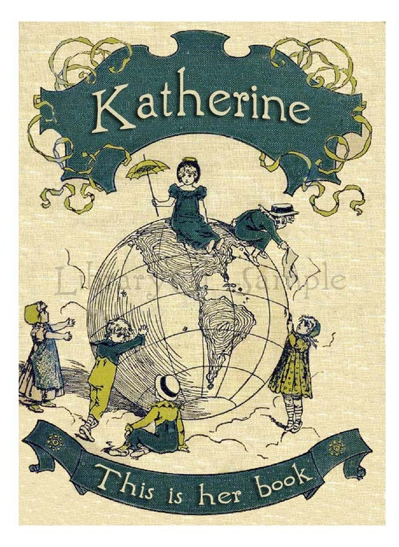 Worldly Friends - Adhesive Backed Personalized Bookplates -  Great for Books, Photo albums, Journals, Scrapbooks