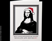 Set of 6 Blank Holiday Cards -May Your Holidays be Filled with HeART-
