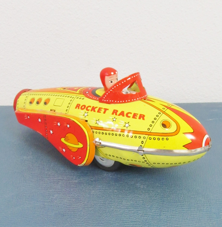 Vintage Tin Toys : Vintage rocket racer tin toy