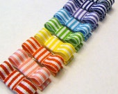 The Striped Rainbow....Baby hair clips set of 9