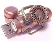 Steampunk 32GB USB Flash Drive Model 801 in a Tin Box
