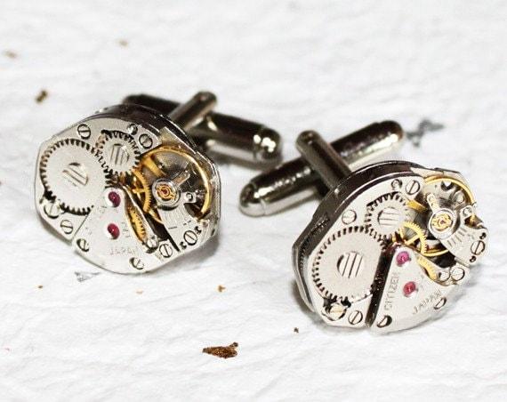 Steampunk Wedding Gifts: Wedding Gift For Men Men Steampunk Cufflinks / Steam Punk