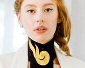 Molten Gold summer fling collar with black fringe - VAUNTD