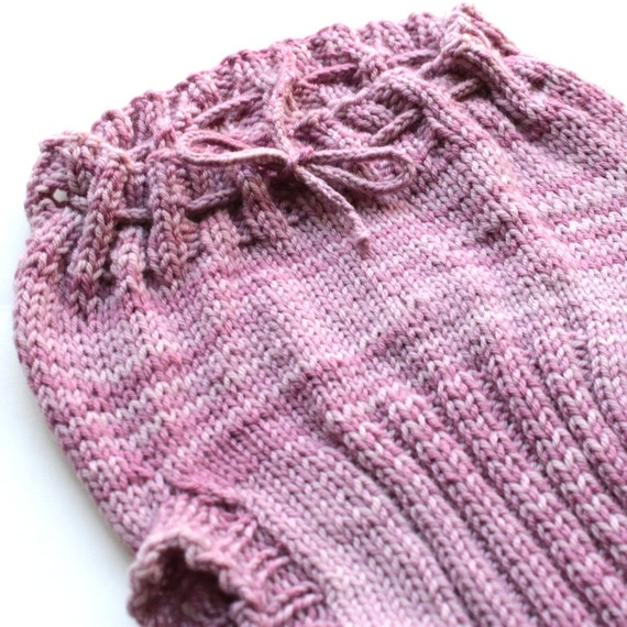 YYMN Medium Wool Soaker, Cloth Diaper Cover, Hand Knit, RESERVED for pilule19, Hand dyed raspberry yarn, pink
