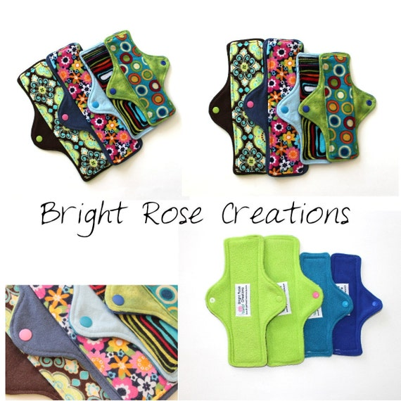 Mama Cloth Pad PDF Pattern, Sewing Pattern, Do It Yourself, DIY, Regular, Heavy, and Post Partum Styles Included, by Bright Rose Creations