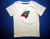 Baby one piece or  toddler tshirt - Embroidery and appliqued  boys hermit crab