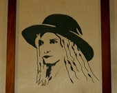 Handmade Scroll Saw Portraits in wood, Immortalize someone you love...