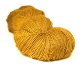 Tussah Silk yarn fingering / 4ply weight - Wild Mothwing 'Mustard Flowers' 150g