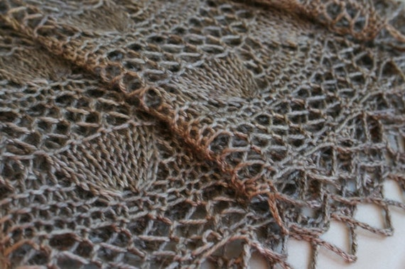 Lady Jane crescent shawl PDF pattern by PaulinaP - knitting pattern for fingering or lace weight yarn