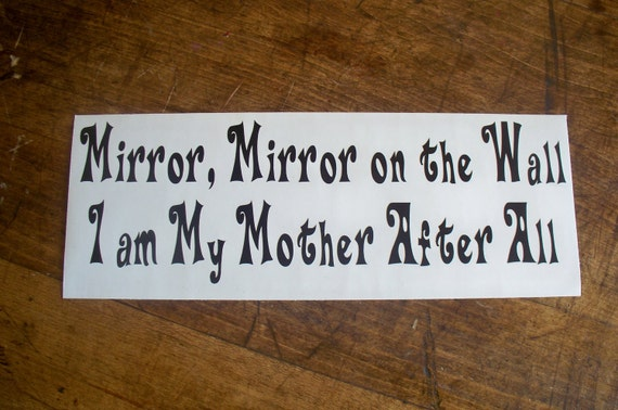 Items Similar To Vinyl Wall Art Decal Quote Mirror, Mirror