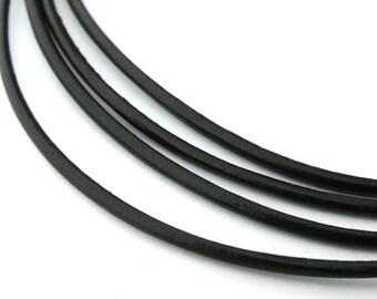 LRD0115121) 1.5mm Dark Brown Genuine Round Leather Cord.  1 meter, 3 meters, 5 meters, 10 meters, 14.9 meters.  Length Available.