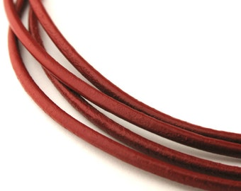 LRD0120165) 2.0mm Tan Genuine Round Leather Cord.  1 meter, 3 meters, 5 meters, 10 meters, 20 meters.  Length Available.