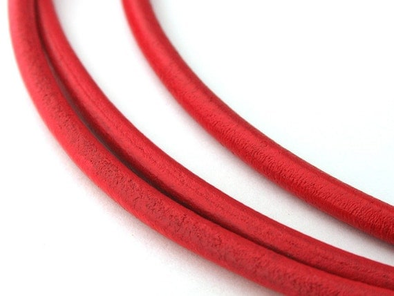 LRD0130134) 1 meter of 3.0mm Brick Round Leather Cord