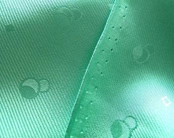 "silk fabric, pastel green pure silk fabric, 25"" by 43"" wide, last piece"