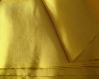 "silk fabric, Silk linen blend fabric, half yard by 44"" wide"