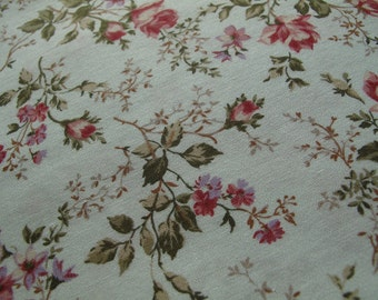 """floral print cotton fabric, half yard by 44"""" wide"""