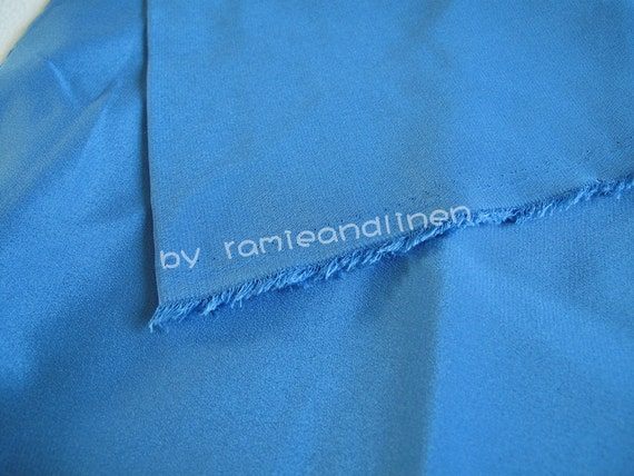 "silk fabric, crepe de chine,pure silk, sky blue, half yard by 44"" wide"
