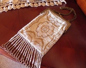 RESERVED for RENEE Elegant Very Early 1900s Beaded Purse