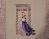 RESERVED FOR CARMEN Celtic Lady of Spring Cross Stitched Picture