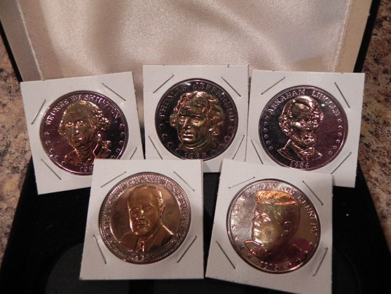 Double Eagle Commemorative Collection of Great American Presidents - Washington, Jefferson, Lincoln, FDR, JFK
