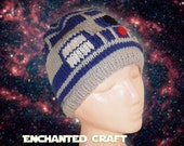 Knitted R2-D2 Beanie Hat for the Star Wars Fan